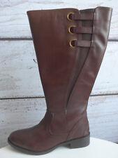 Sheego Weitschaftstiefel Stiefel Leder XL Gr. 38 bis 43 Braun NEU (122)