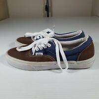 Vans Authentic Shoes Mens US 7 Brown Blue New Laces