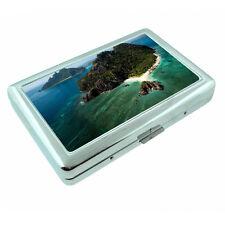 Fiji Islands D3 Silver Metal Cigarette Case RFID Protection Wallet Tropical