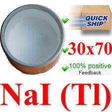 Scintillation crystal NaI(Tl) 30x70 mm Gamma scintillator Radiation detector