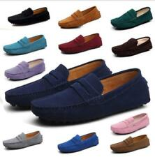 Mens Suede Leather Moccasin Gomminos Flats Slip On Loafers Driving Boat Shoes SZ