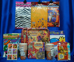 MADAGASCAR Party # 27 Cup Plate Napkin Invite Tablecover Banner Figure HUGE