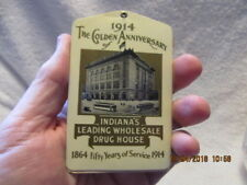 1914 Memo Book A. Kiefer Drug Co. Indianapolis IN Golden Anniversary W/Calendar