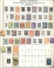 SOUTH AUSTRALIA & TASMANIA:  32 Used Stamps; 1880's - 1912