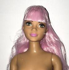 Barbie Evolution Fashionistas Model 48 Curvy Body Style Nude Doll Pink Hair New