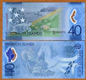 Solomon Islands, $40, 2018, P-New POLYMER, UNC > Commemorative, only 100,000 pcs