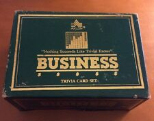 Axlon Business Trivia Card Set from 1984