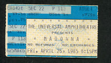 Madonna Beastie Boys 1985 Virgin World Tour Concert Ticket Stub Universal City