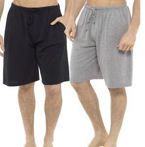 100% Jersey Cotton Mens Lounge Shorts Pajamas Bottoms Sleepwear With Pockets