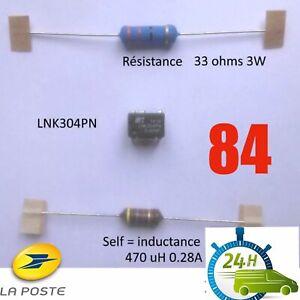 Kit Lnk304Pn  + Self L003 ou L1+ Resistance R020 ou R47 Envois Express 84