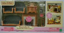 NEW Calico Critters Deluxe Living Room set NRFB Fireplace furniture accesories