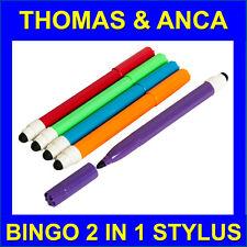 5x 2in1 Touchscreen Stylus Felt Marker Pen Dabber Bingo Tickets Electronic Bingo