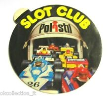 VECCHIO ADESIVO anni '80 / Old Sticker AUTO F1 POLISTIL SLOT CLUB (cm 9)