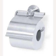 Zack Marino Bathroom Toilet Roll Holder with Lid 40220 Stainless Steel