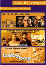 4DVDs  BOYZ N THE HOOD/ BABY BOY/  HIGHER LEARNING *NEU