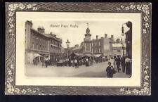Warwicks RUGBY Market Place 1913 Embossed RP PPC