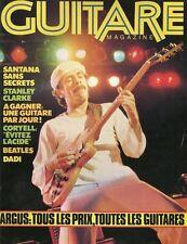 Guitare Magazine #12 -SANTANA- Stanley Clarke, Coryell, Beatles, Dadi,...