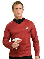 New Star Trek Movie Scotty Engineering Red Adult Deluxe Uniform Shirt, SEALED