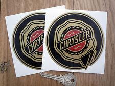 CHRYSLER 100mm Gold Rosette Car Stickers 300C Viper Crossfire Cruiser Dodge