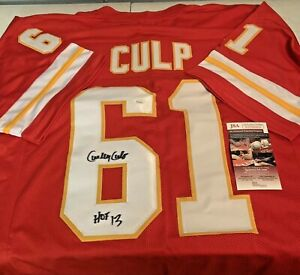 Curley Culp Autographed Signed Kansas City Chiefs Red CUSTOM Jersey JSA