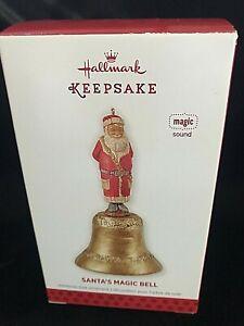Hallmark Keepsake Ornament  2013 Santa's Magic Bell  Sound   NIB