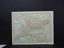 Map - Ontario, Canada, George F. Cram 1899 #02