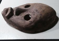 "Antique original African mask. Hancarved wood, 9"". Nice piece"
