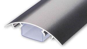 Aluminium Design TV Kabelschacht Titanium anthrazit seidenmatt Kabelleiste