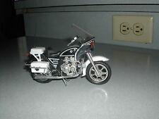 Vintage Kawasaki Police 1000 Bike Ridge Riders Zee Toys Motorcycle BLACK 1980' s