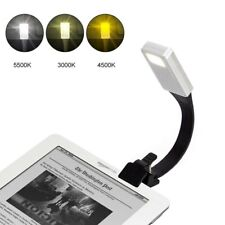 USB Rechargeable Clip On Book Light LED Flexible Reading Lamp For Reader KindleO