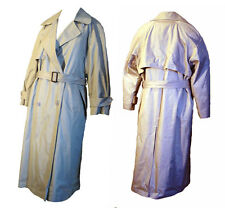 Vintage 80s Trench Coat Khaki Raincoat Saks Fifth Avenue Zip Out Lining Size 10