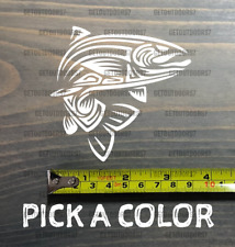 """Trout Sticker Decal 3.5"""" DIE CUT Mountain Simms Sage Fly Fishing Tribal Ross XO"""
