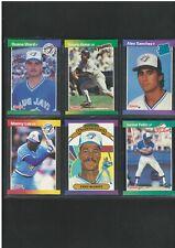 1989 DONRUSS TORONTO BLUE JAYS JUNIOR FELIX & ALEX SANCHEZ ROOKIE CARDS + 4 LOT