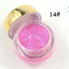 16 Colors Glitzy Shimmer Eye Shadow Glitter Eyeshadow Cream GEL Makeup Powder 14#