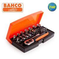 Bahco SL25 25pc 1/4 Drive Metric Bit Socket Set with Ratchet & Case BAHSL25