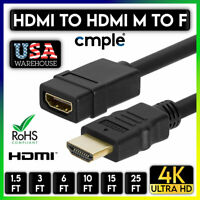 HDMI Extension Cable Male to Female HDMI 2.0 Cord M to F 4K 3D HDTV XBOX PS5