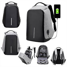 Anti-theft Laptop Notebook Backpack W/ USB Charging Port School Travelling Bag `