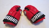 """Used Egor Yakovlev Warrior QR1 Pro Stock NJ Devils 14"""" Hockey Gloves! MeiGray!"""