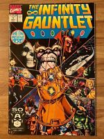 Infinity Gauntlet #1 (Marvel 1991) Avengers~Drax~Thanos~Jim Starlin~Perez~Key~VF