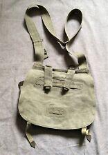 Vintage linen/canvas military musette bag, world war II ?