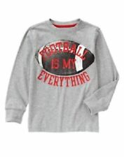NWT Gymboree Boys Football Is My Everything Gray T-Shirt Long Sleeve SZ 7