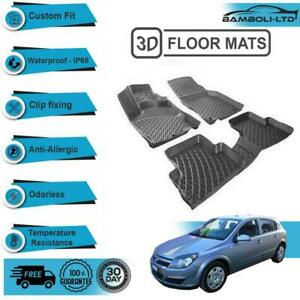 3D Molded Interior Car Floor Mat for Opel Astra H 2004-2008(Black)