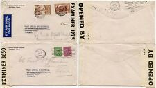 CANADA WW2 CENSORS 3650 TORONTO + 1275 MONTREAL AIRMAIL + SURFACE to GB 2 COVERS
