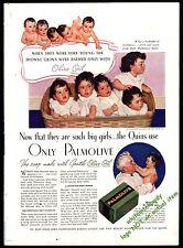 1937 DIONNE QUINTUPLETS Quints Photo in Palmolive Soap AD Bathroom Decor