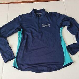 London Marathon Mens Jacket Medium Navy Blue Turquoise Running Jacket