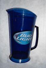 Set of 2 Bud Light Pitchers Blue Beer 64 oz Pitcher Plastic >New<
