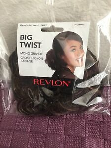 REVLON BIG TWIST Curly Synthetic Hair Wrap Hairpiece, Coffee Caramel, Brown + HL
