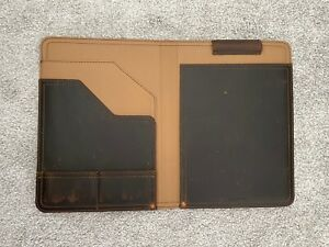Saddleback Medium Leather Portfolio Dark Coffee Brown
