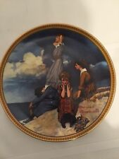 "Collectible Norman Rockwell Numbered Plate ""Waiting On The Shore"""