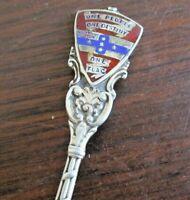 1900 Walker & Hall Sterling Silver & Enamel Spoon - Australian Federation Slogan